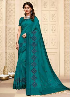 Modernistic Cotton Silk Resham Contemporary Saree