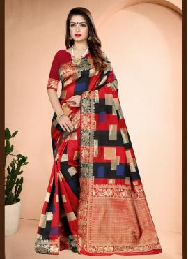 Modernistic Traditional Designer Saree For Festival