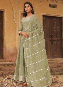 Modest Cotton Designer Gown