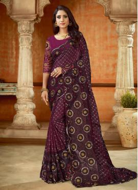 Modest Embroidered Contemporary Saree