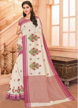 Modish Embroidered Party Traditional Saree