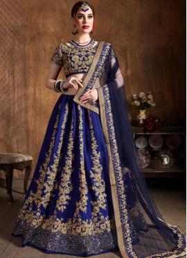 Monumental Blue Wedding Lehenga Choli