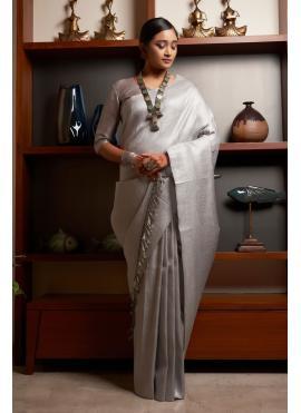Monumental Raw Silk Weaving Traditional Designer Saree