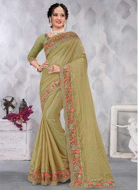 Monumental Sequins Designer Saree