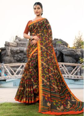 Multi Colour Casual Cotton Silk Bollywood Saree