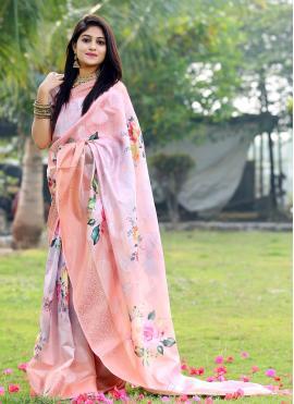 Multi Colour Ceremonial Silk Printed Saree