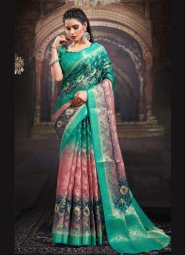 Multi Colour Color Designer Saree