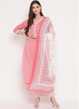 Multi Colour Cotton Printed Designer Suit