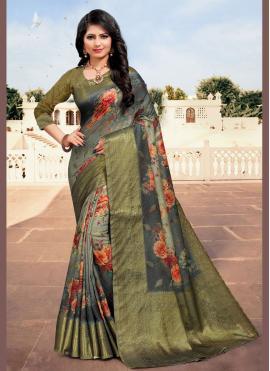 Multi Colour Cotton Weaving Contemporary Saree