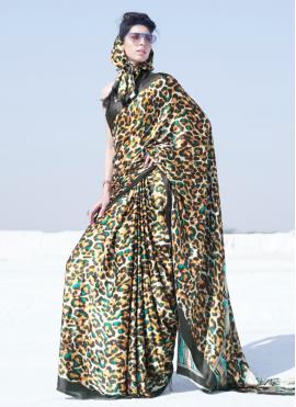 Multi Colour Crepe Silk Casual Saree