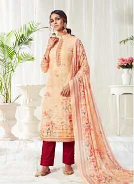 Multi Colour Festival Cotton Trendy Salwar Suit