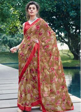 Multi Colour Georgette Printed Casual Saree