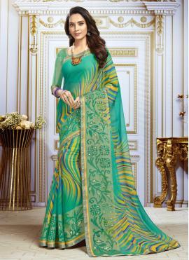 Multi Colour Georgette Trendy Saree
