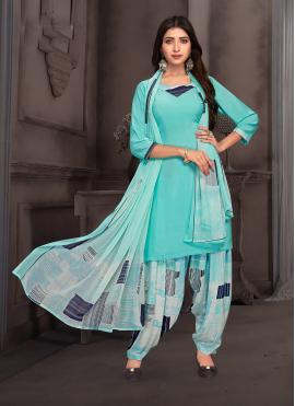 Multi Colour Printed Casual Punjabi Suit