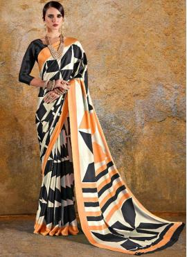 Multi Colour Printed Saree