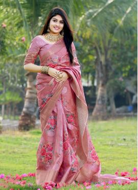 Multi Colour Silk Ceremonial Printed Saree