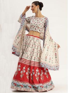 Multi Colour Silk Trendy Lehenga Choli