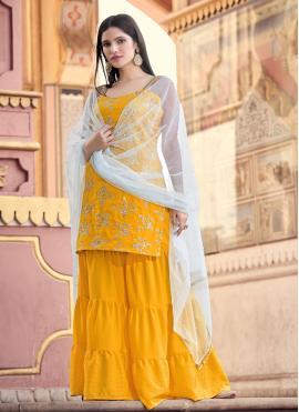 Mustard Ceremonial Designer Pakistani Salwar Suit