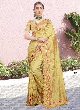 Mustard Silk Bollywood Saree