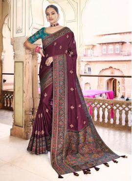 Mystic Embroidered Designer Traditional Saree