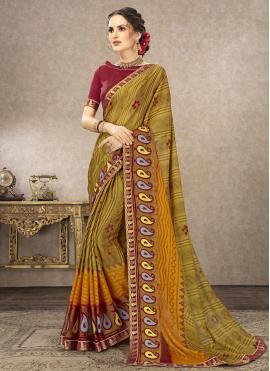 Mystic Fancy Fabric Party Trendy Saree