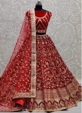 Mystic Thread Velvet Lehenga Choli