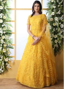 Mystic Yellow Designer Gown