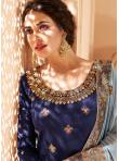 Navy Blue Color Salwar Suit - 1