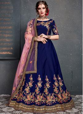 Navy Blue Wedding Designer Lehenga Choli