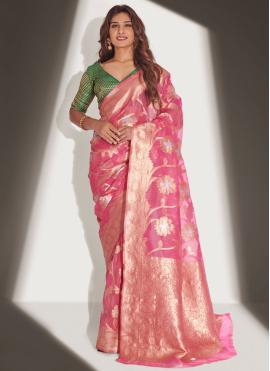 Neha Khan Pink Traditional Designer Saree