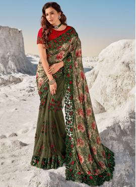 Net Green Bollywood Saree
