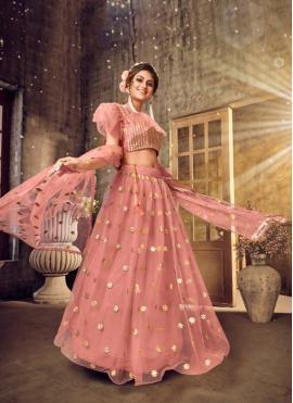 Net Pink Designer Lehenga Choli