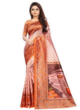 Noble Abstract Print Raw Silk Printed Saree