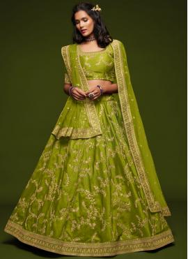 Noble Green Sangeet Lehenga Choli
