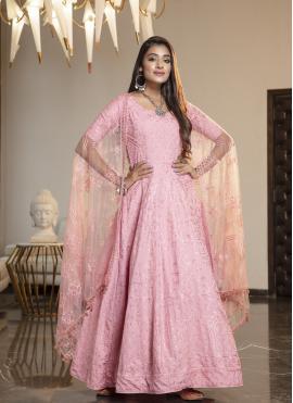 Noble Pink Reception Designer Gown