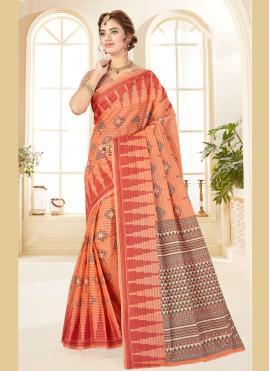 Noble Printed Multi Colour Bollywood Saree