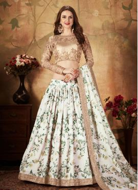 Observable Floral Print Ceremonial Trendy Lehenga Choli