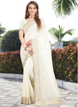 Off White Silk Wedding Silk Saree