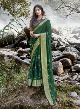 Orphic Linen Traditional Saree