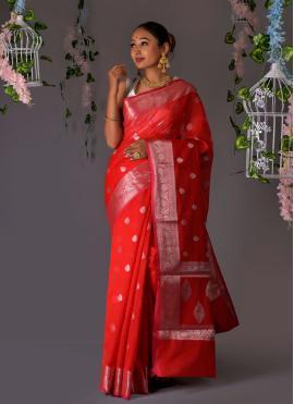 Paramount Banarasi Silk Weaving Designer Traditional Saree