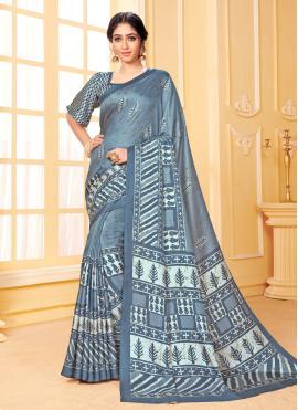 Pashmina Printed Traditional Saree in Multi Colour