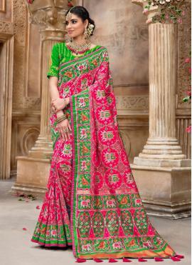 Patola Silk  Pink Fancy Traditional Designer Saree