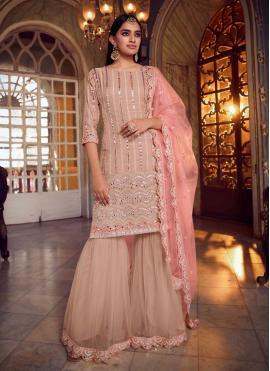Peach Mirror Designer Pakistani Suit