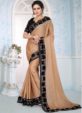 Peach Resham Designer Traditional Saree