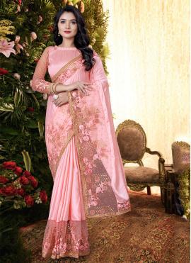 Peppy Pink Festival Designer Saree