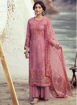 Perfect Pink Designer Palazzo Suit