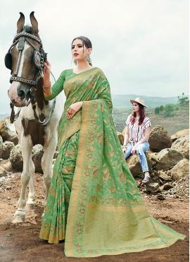 Phenomenal Banarasi Silk Contemporary Saree