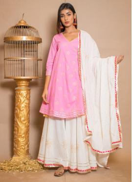 Phenomenal Cotton Designer Palazzo Salwar Suit
