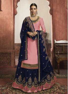 Phenomenal Pink A Line Lehenga Choli