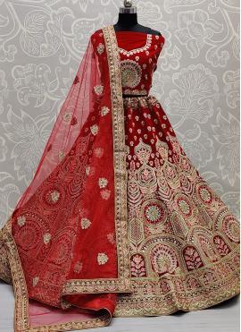 Picturesque Velvet Lehenga Choli